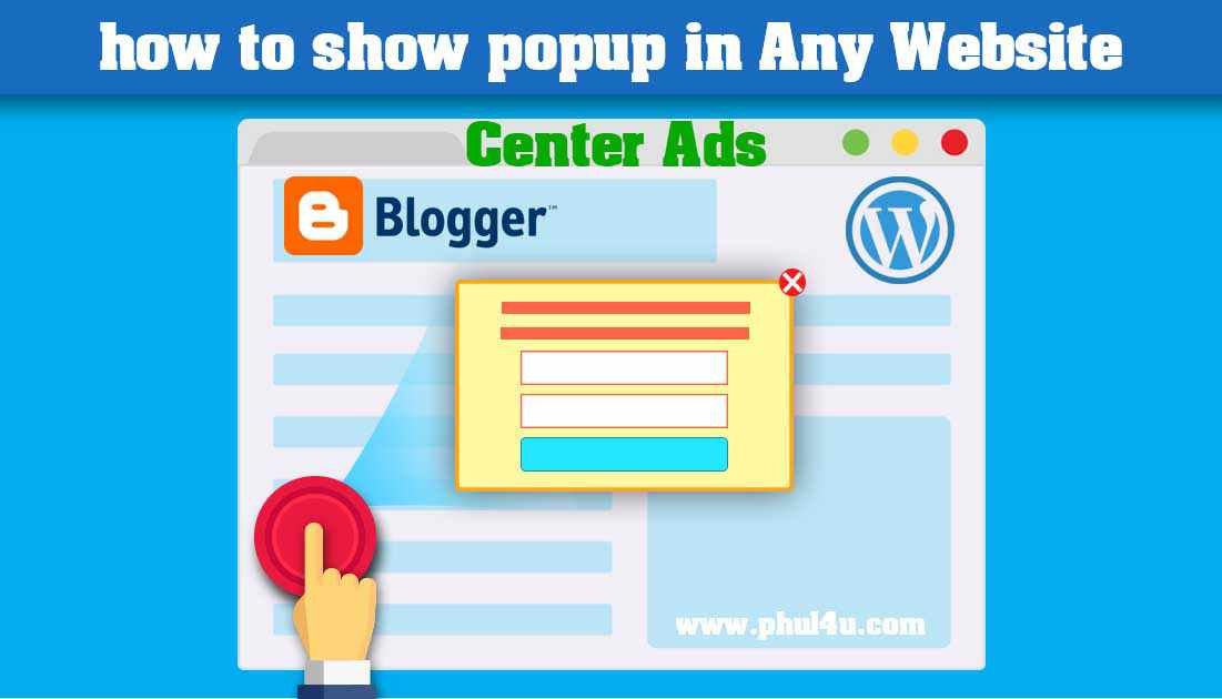 How to add popup Ads or floating Ads in Sidebar For blogger & WordPress