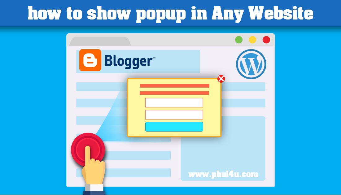 How to add popup Ads or floating Ads in Center For blogger & WordPress