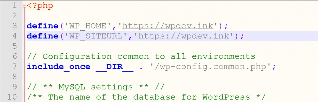 Change WordPress URL in wp-config.php file